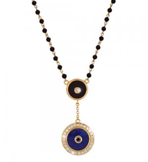 Aegus Evil eye Lapiz necklace