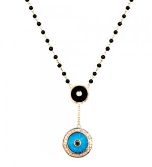 Aegus evil eye turquoise necklace