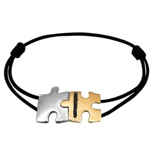 jigsaw love bracelet  Black diamonds