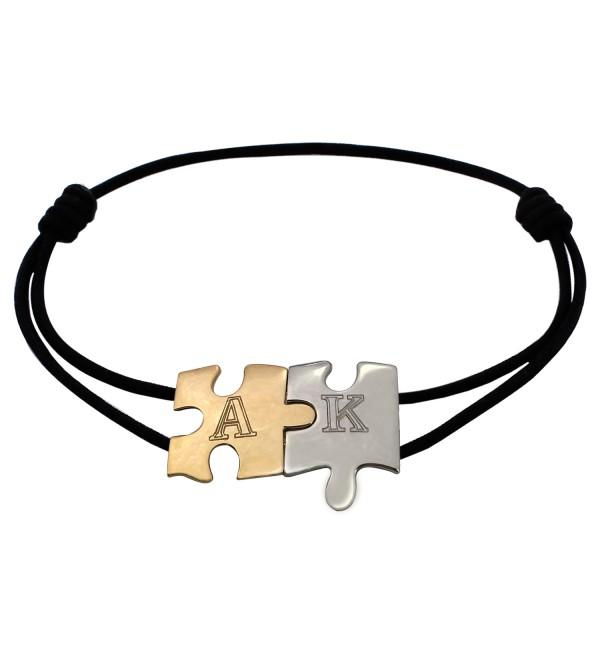 Jigsaw love bracelet with initials