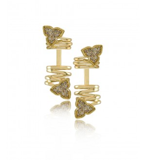 IRIS CREEPER EARRINGS, Diamonds