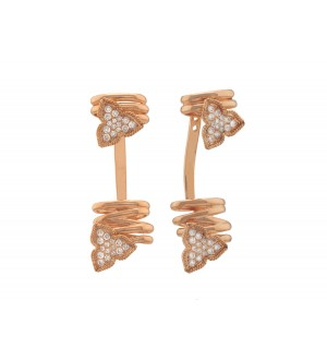 IRIS CREEPER EARRINGS ROSE GOLD, Diamonds