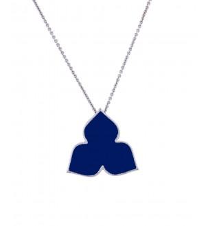 iris blue enamel pendant