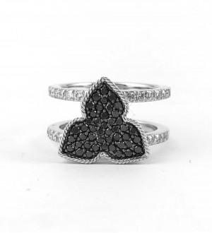 Black Diamonds pave iris ring