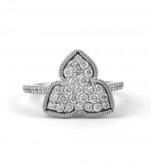 Diamonds pave iris ring