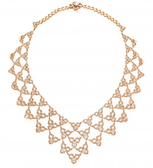 Pink gold Iris Necklace
