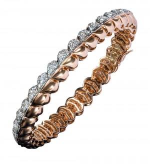 INSIGNIA DIAMOND GOLD BANGLE