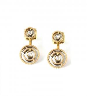 LABYRINTH GOLD DIAMOND EAR JACKET
