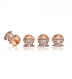Channel Kurta Buttons/Cufflinks, Diamonds