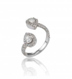 double pear ring