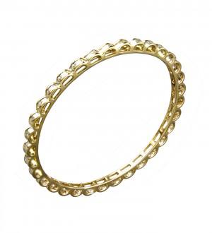 DIAMOND  CHANNEL BANGLE YELLOW GOLD