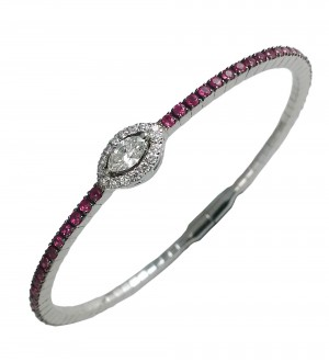 MARQUISE STACKABLE BRACELET, RUBY