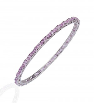PINK SAPPHIRE CHANNEL BANGLE