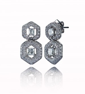 DOUBLE HONEY COMB STUDS, Diamonds