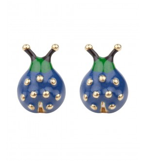 BLUE LADY BUG STUDS