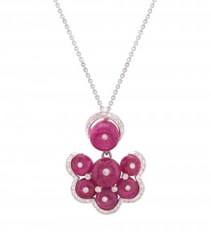 BERRY CLUSTER RUBY PENDANT