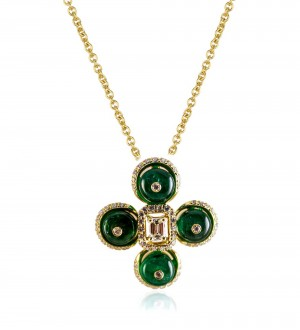 EMERALD BEADS AND BERRIES PENDANT