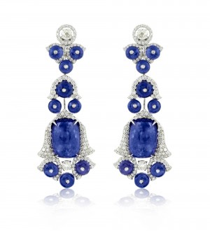 Tanzanite chandelier earrings