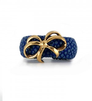 bow galuchat ring
