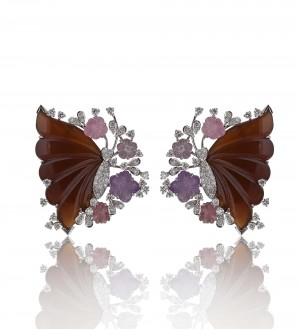 CARVED BUTTERFLY STUDS