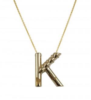 K alphabet pendant