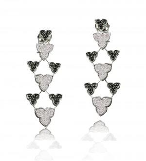 BLACK AND WHITE DIAMONDS, IRIS EARRINGS