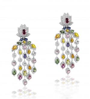 Lotus cascade earrings