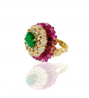 Goshwara lotus ring