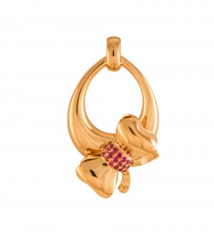 RUBY LOVE KNOT PENDANT