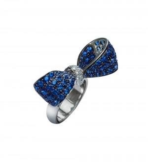 blue sapphire ribbon ring